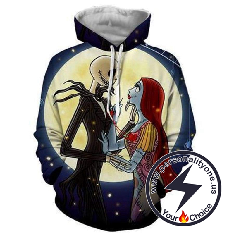 The Nightmare Before Christmas Jack And Sally Affectionate Hoodie