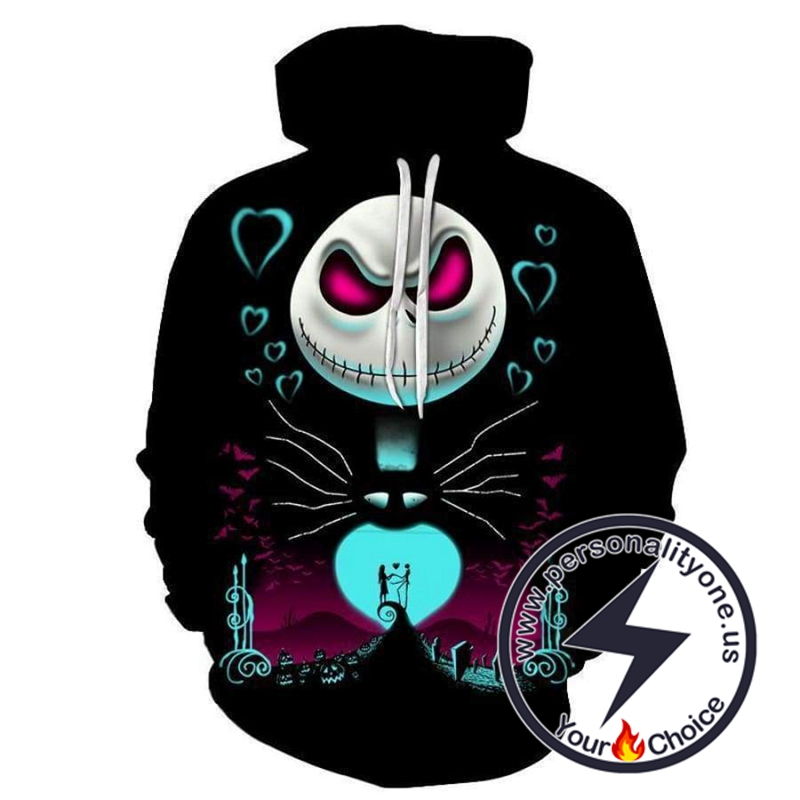 The Nightmare Before Christmas Jack And Sally Love Hoodie