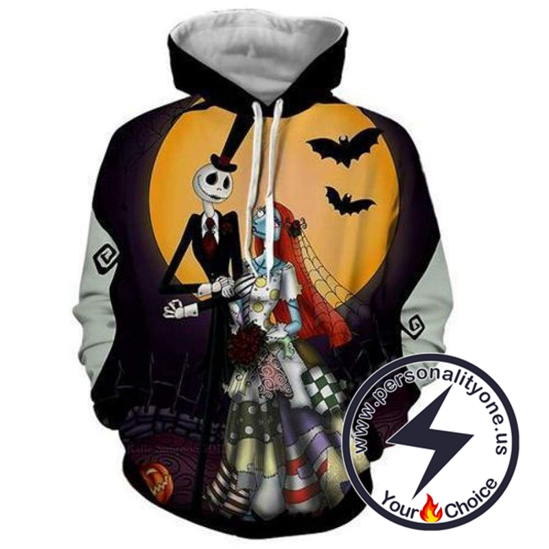 The Nightmare Before Christmas Jack And Sally Wedding Ceremony Hoodie