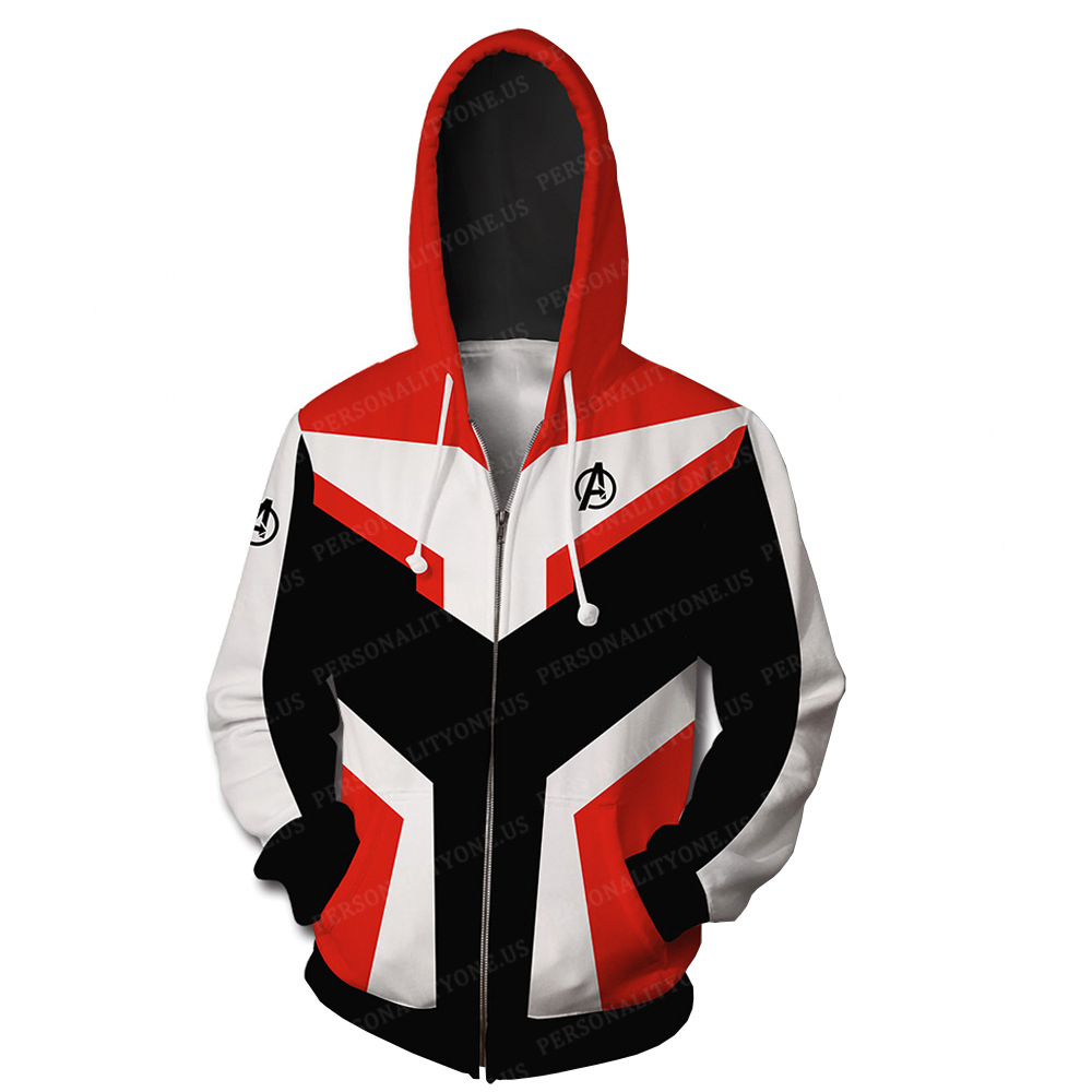 The Avengers 4 Avengers: Endgame the Advanced Tech Suits Orange Suit Cosplay Zip Up Hoodie Jacket