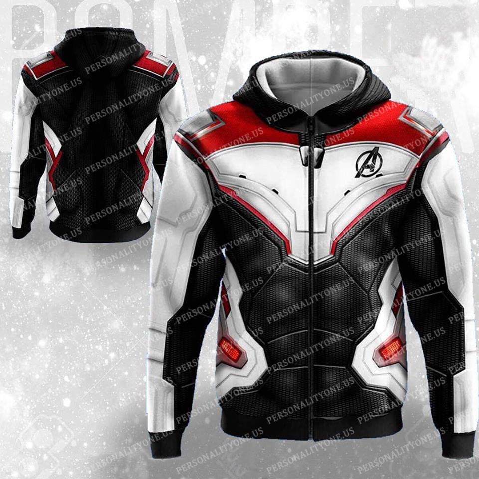The Avengers 4 Avengers: Endgame Quantum Battle Suit 3D Zip Up Hoodie Jacket