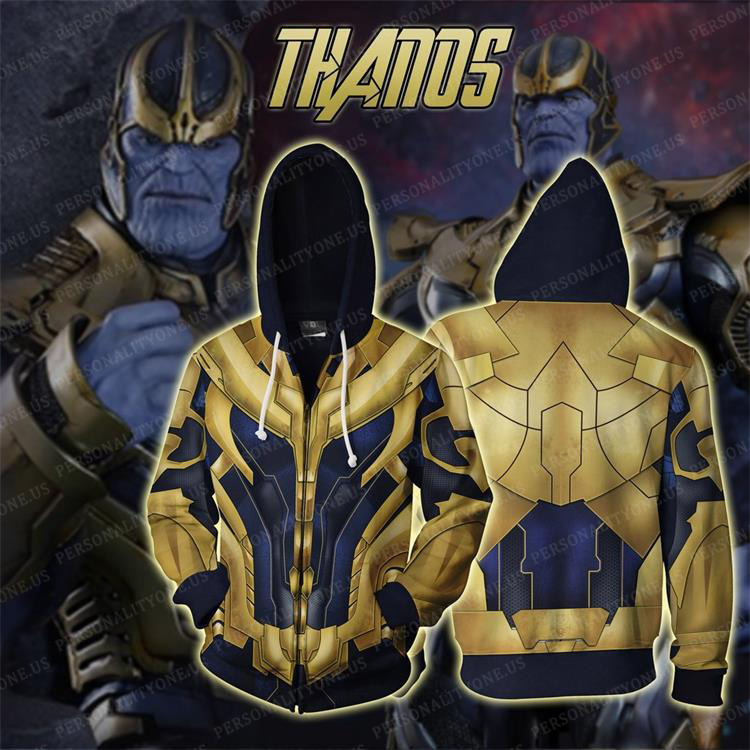 The Avengers 4 Avengers: Endgame the Advanced Thanos Cosplay Zip Up Hoodie Jacket
