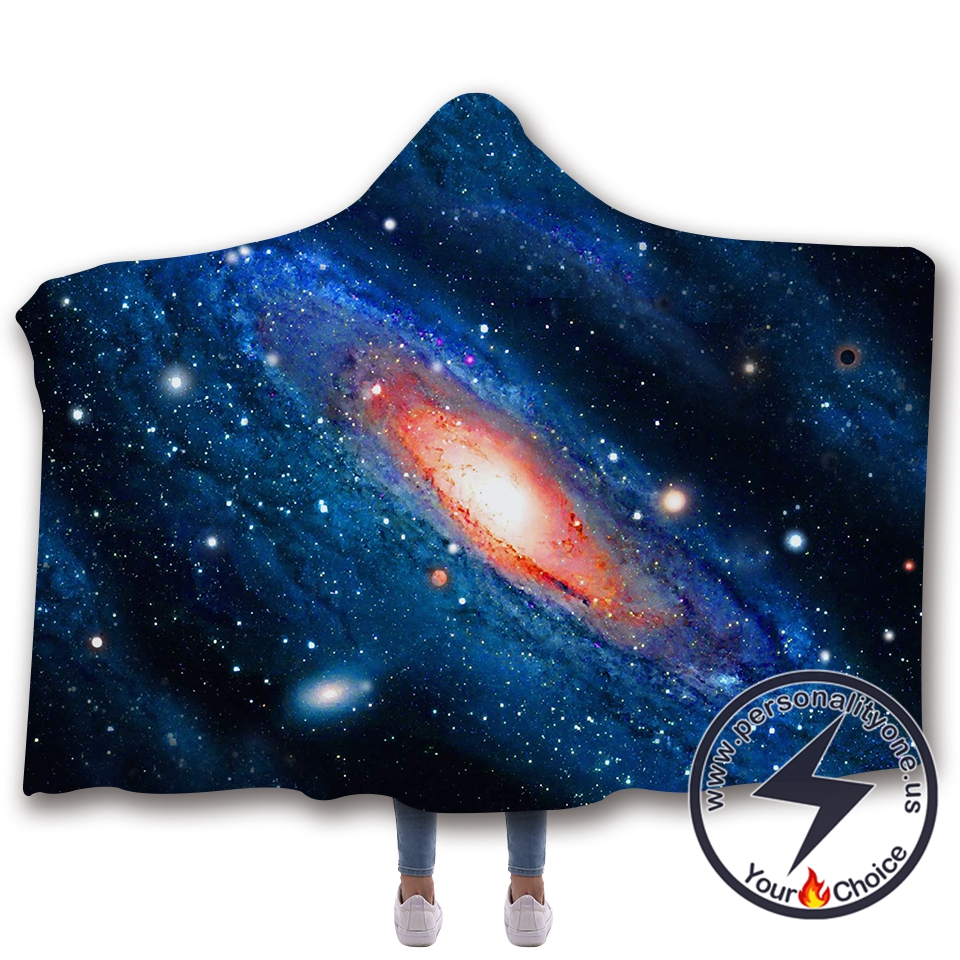 3D Cosmic starry sky Hooded Blanket #10001