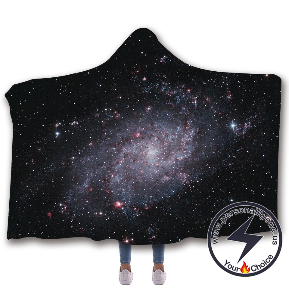 3D Cosmic starry sky Hooded Blanket #10002