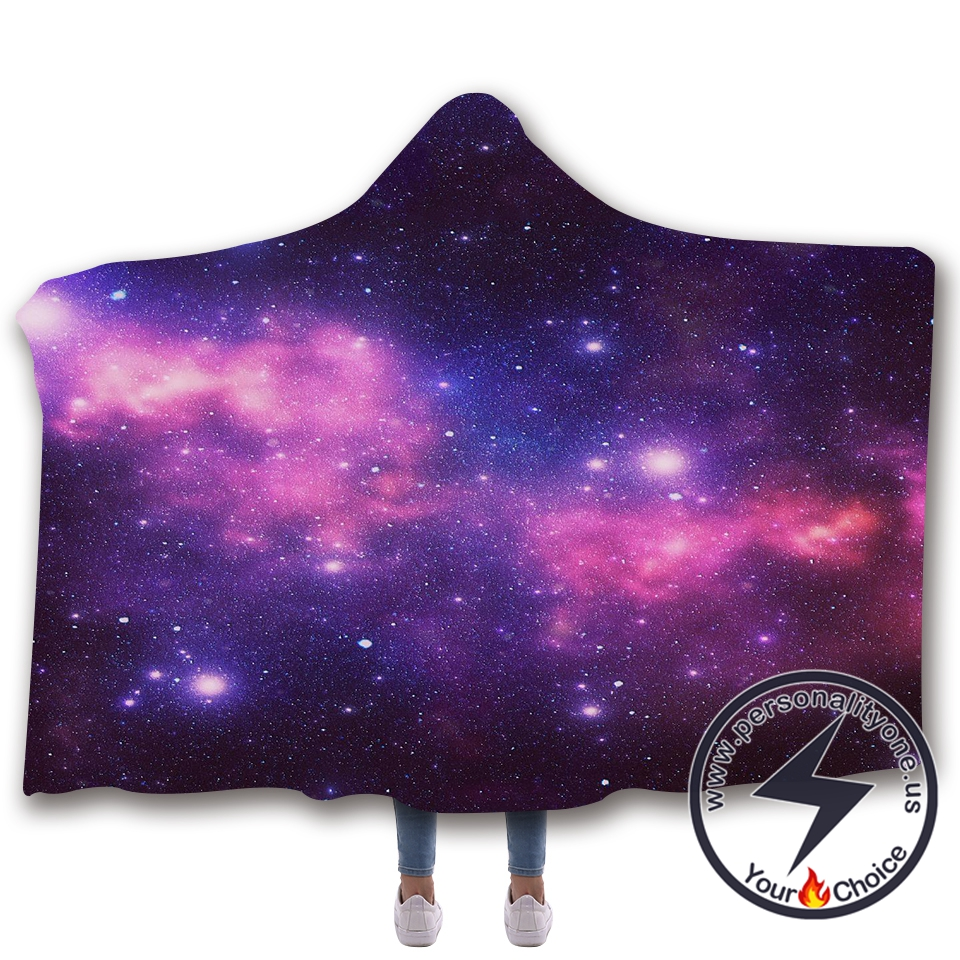 3D Cosmic starry sky Hooded Blanket #10004