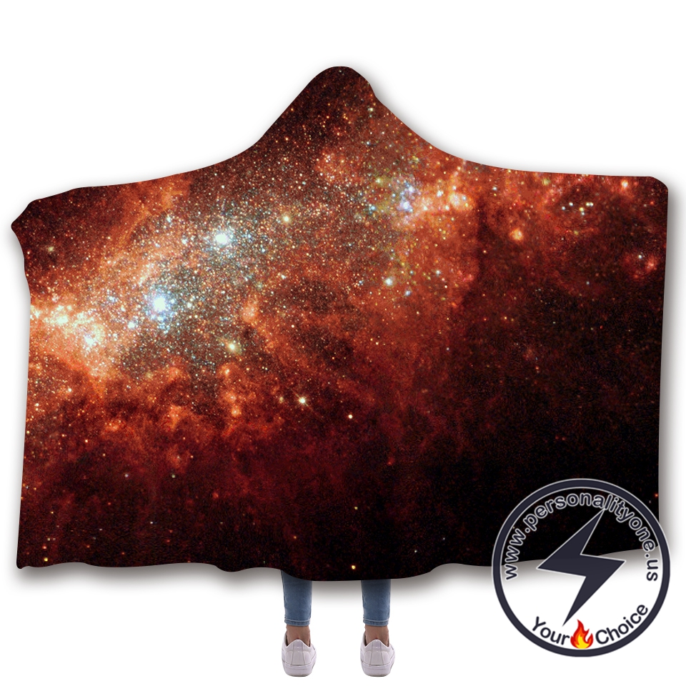 3D Cosmic starry sky Hooded Blanket #10005