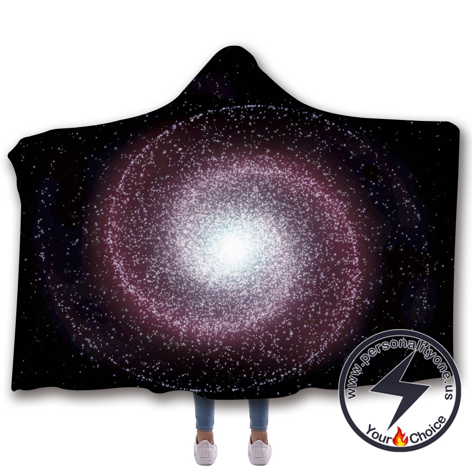 3D Cosmic starry sky Hooded Blanket #10006