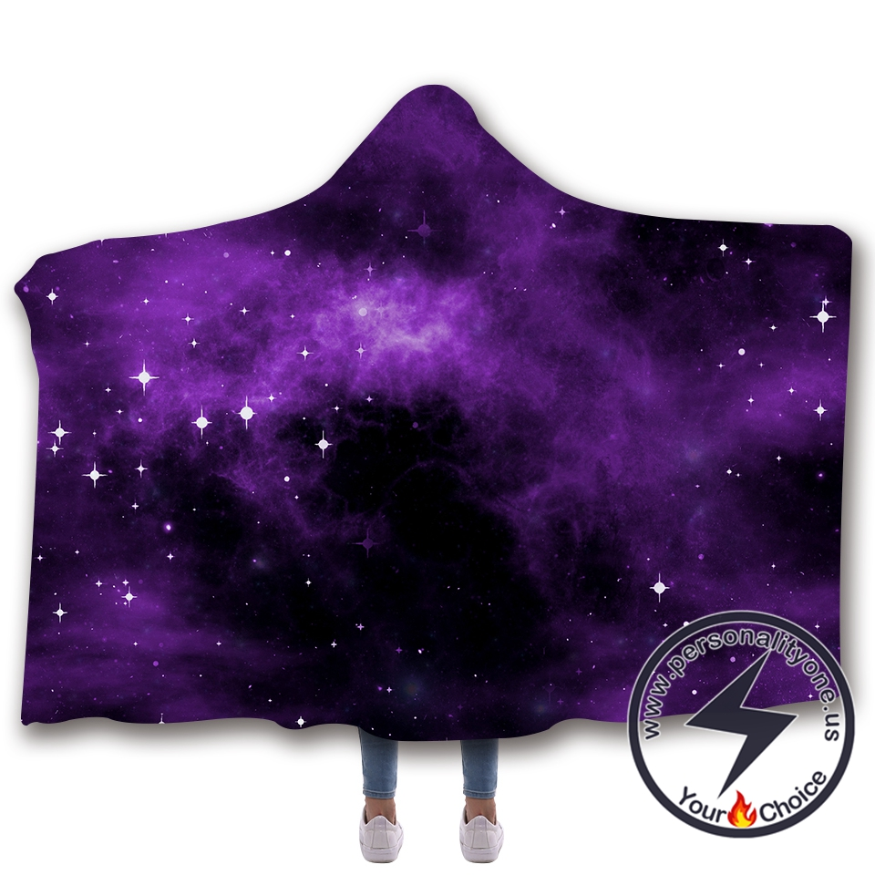 3D Cosmic starry sky Hooded Blanket #10007