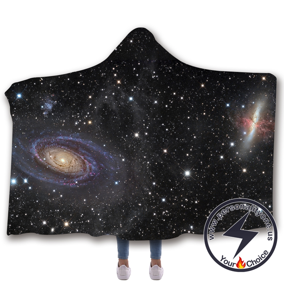 3D Cosmic starry sky Hooded Blanket #10010