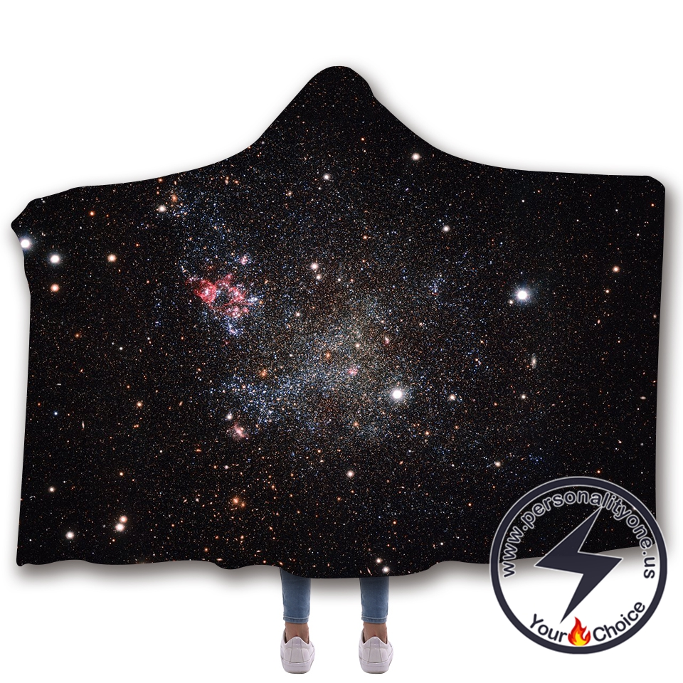 3D Cosmic starry sky Hooded Blanket #10011