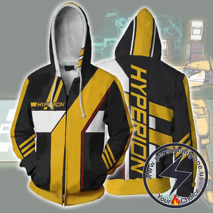 Borderlands Hoodies - Borderlands Hyperion Zip Up Hoodie Jacket