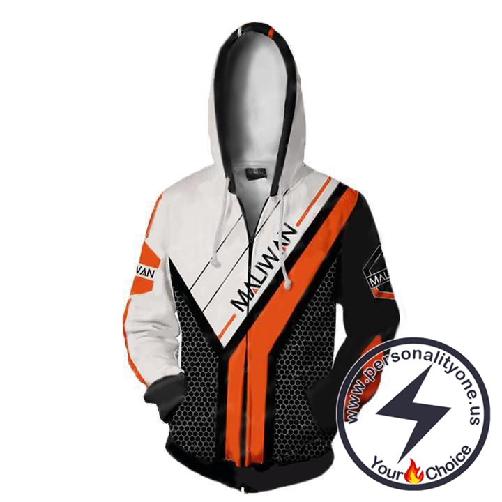 Borderlands Hoodies - Borderlands Maliwan V2 Zip Up Hoodie Jacket