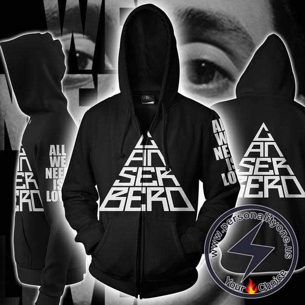 Canserbero All We Need Is Love Zip Up Hoodie Jacket
