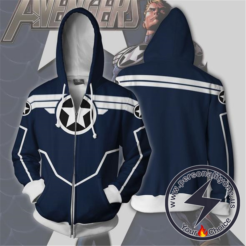 Captain America Hoodie - Secret Avengers Jacket