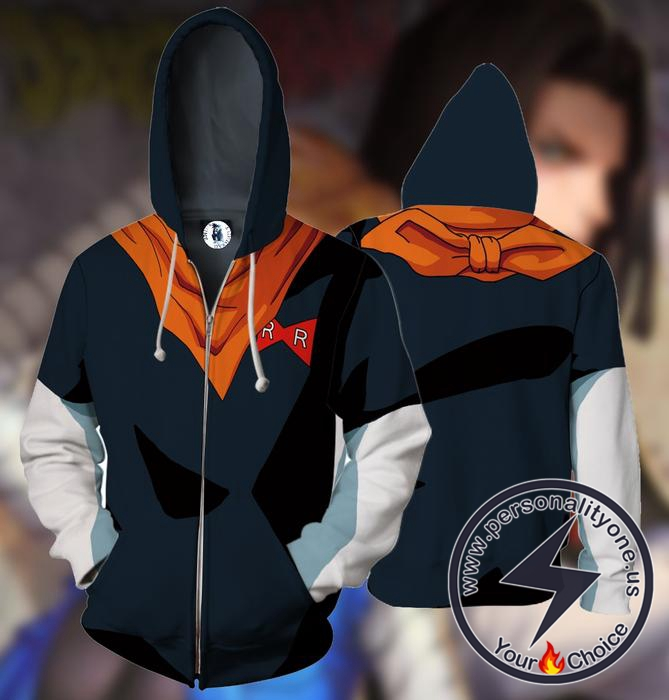 Dragon Ball Z Android 17 Hoodie Jacket