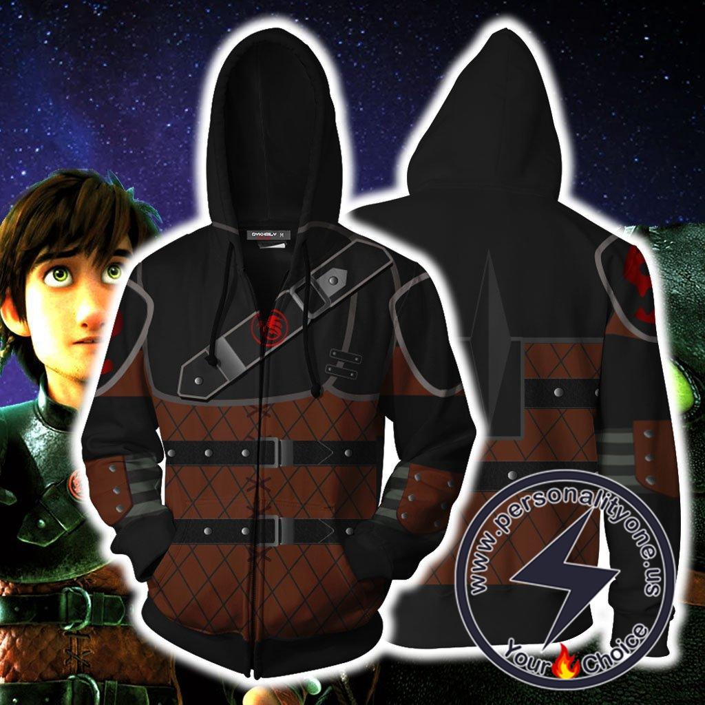 How To Train Your Dragon Hiccup Cosplay Zip Up Hoodie Jacket