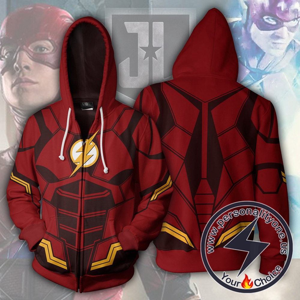 Justice League Hoodie - The Flash Jacket
