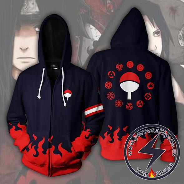 Naruto Uchiha Clan Zip Up Hoodie Jacket