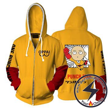 One Punch Man Saitama Hoodie Jacket
