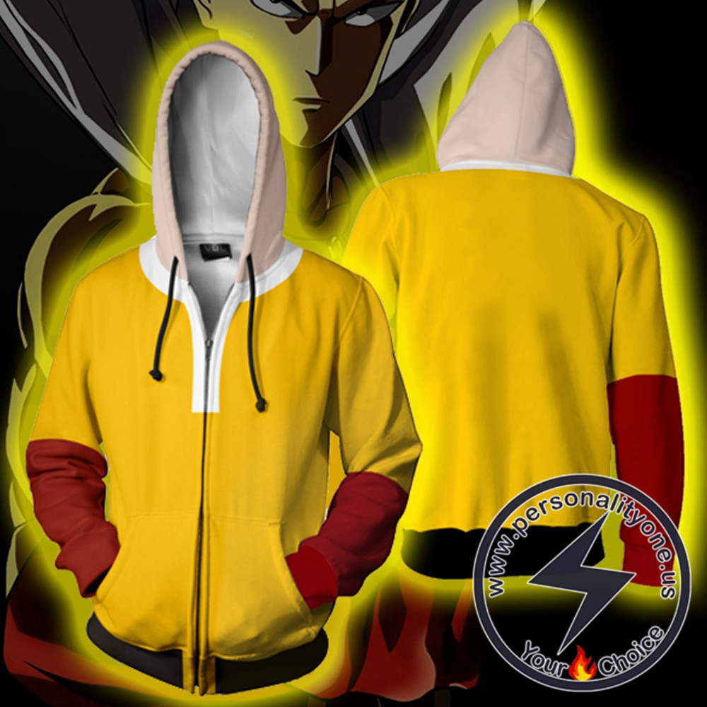 One Punch Man Saitama Zip Up Hoodie Jacket