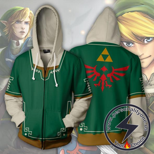 The Legend of Zelda Hoodie - Link Green Jacket