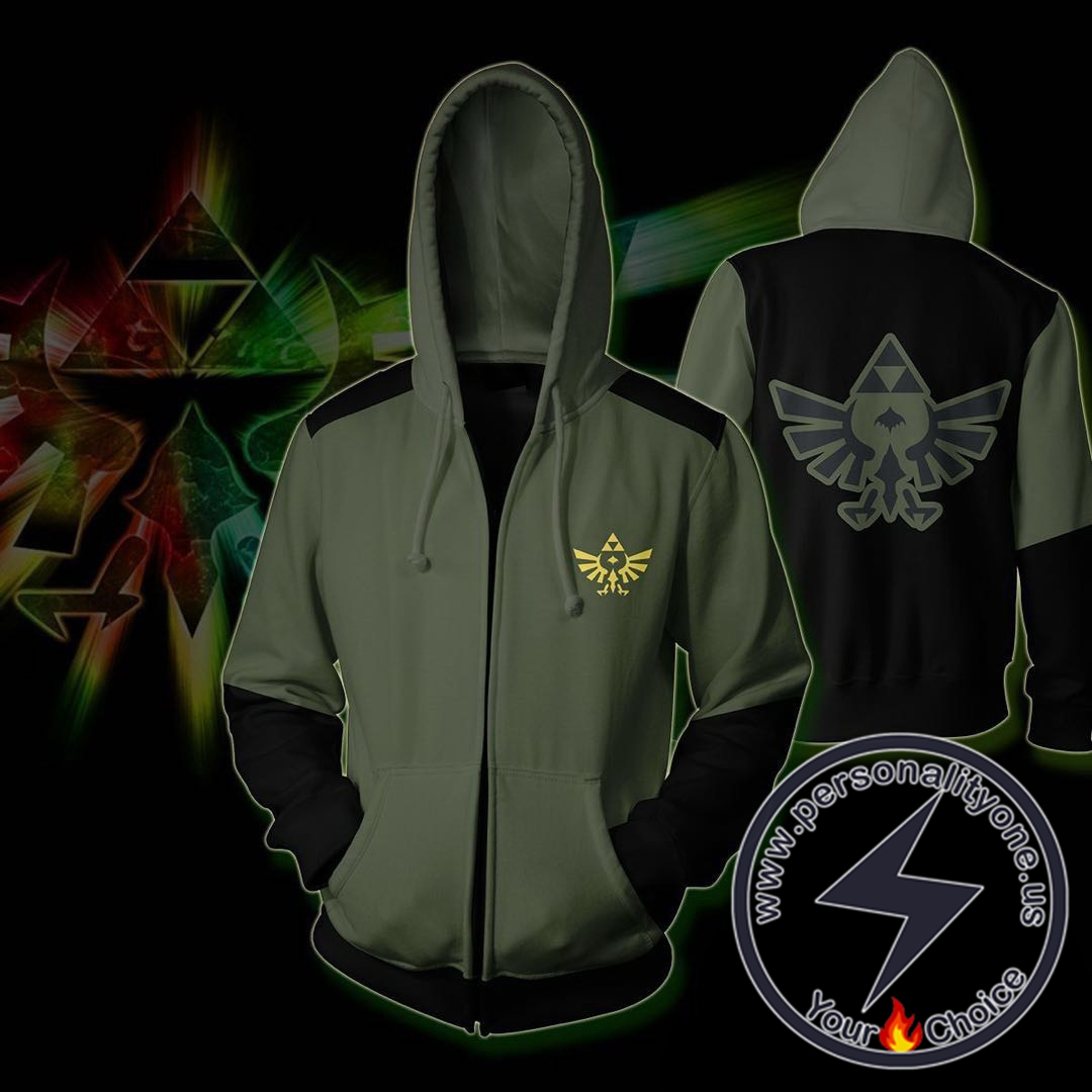 The Legend of Zelda Hoodies - The Legend of Zelda Zip Up Hoodie Jacket