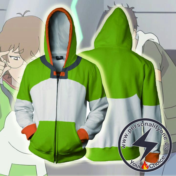 Voltron Legendary Defender Hoodies - Pidge Zip Up Hoodie Jacket