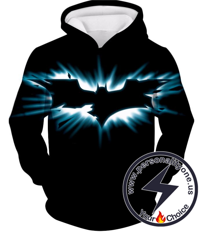 Amazing Batman Logo Graphic Promo Black Hoodie