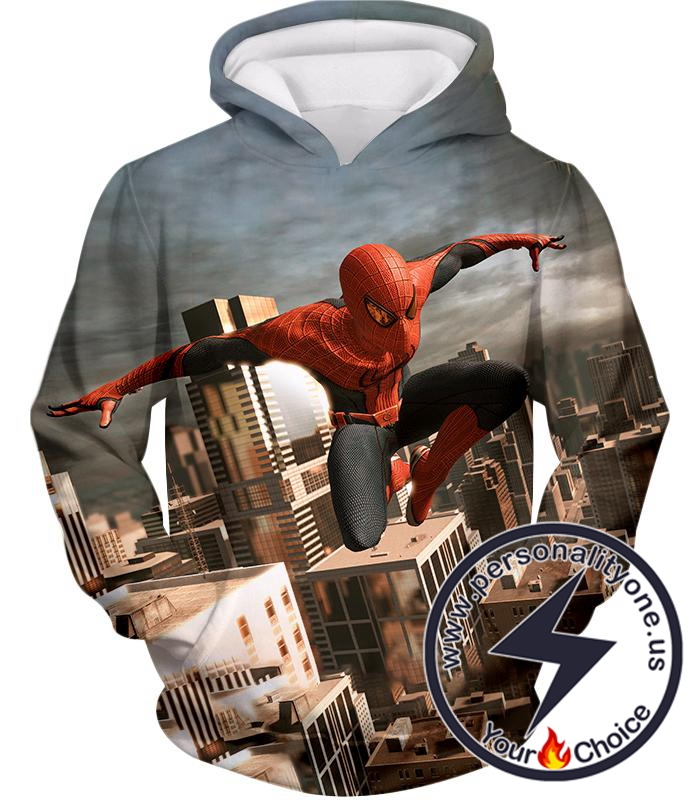 Amazing Spiderman 3D Action Hoodie