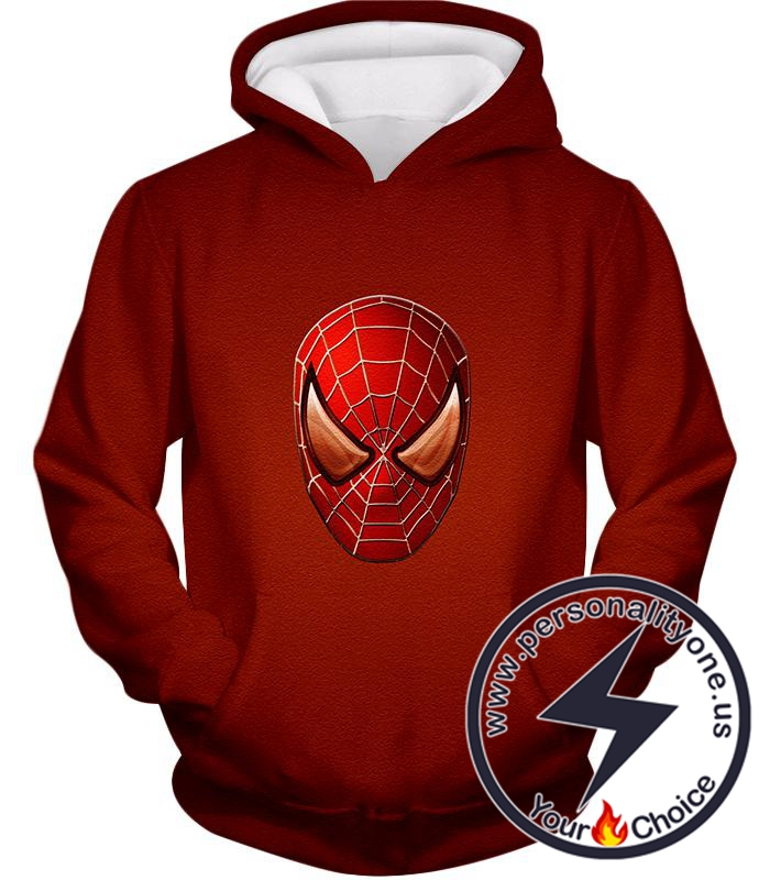 Amazing Spiderman Mask Promo Red Hoodie