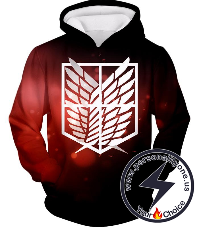 Attack on Titan Cool Survey Corps Emblem Hoodie