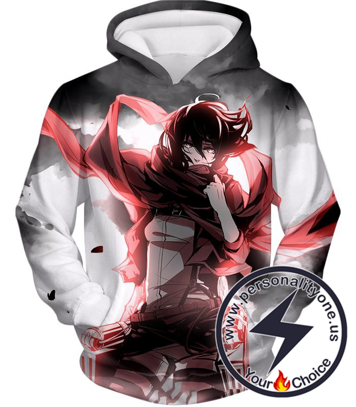 Attack on Titan Cool Survey Soldier Mikasa Ackerman Hoodie