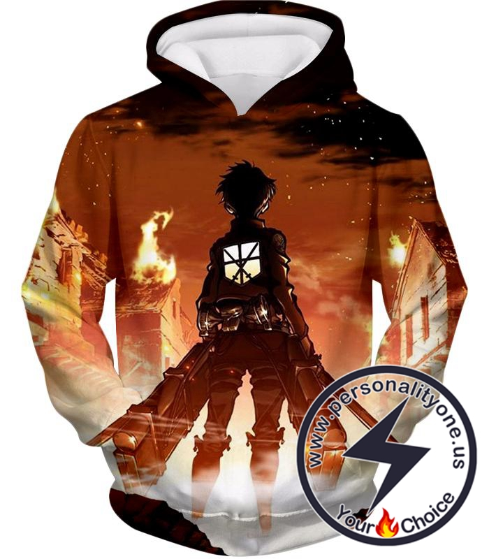 Attack on Titan Military Trainee Eren Yeager Cool Hoodie