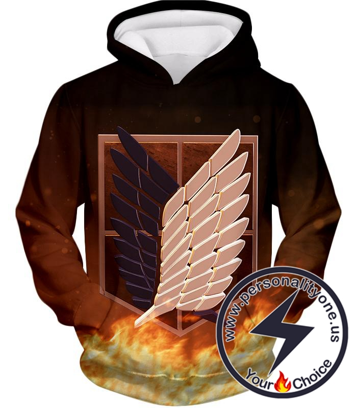 Attack on Titan The Brave Survey Corps Logo Hoodie