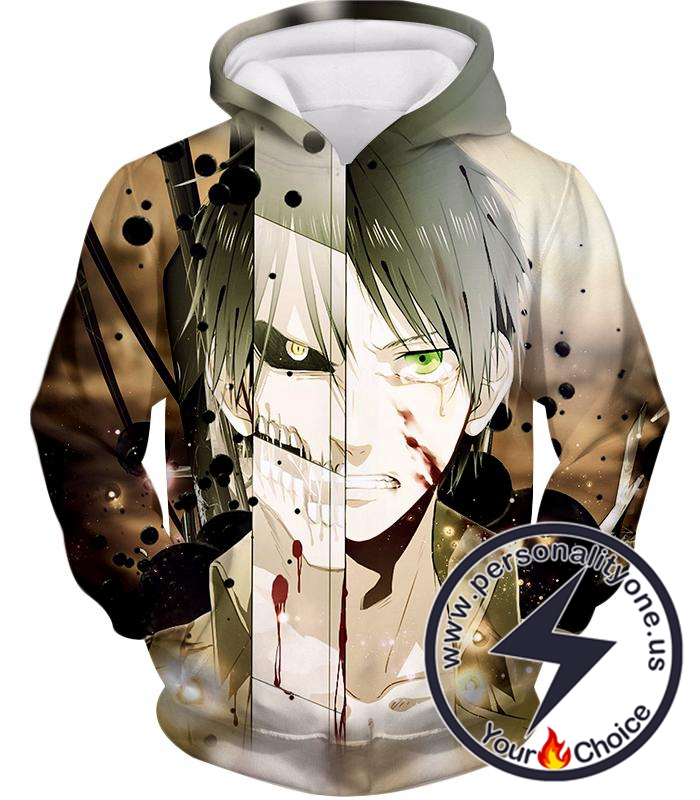 Attack on Titan The Titan Human Eren Yeager Hoodie