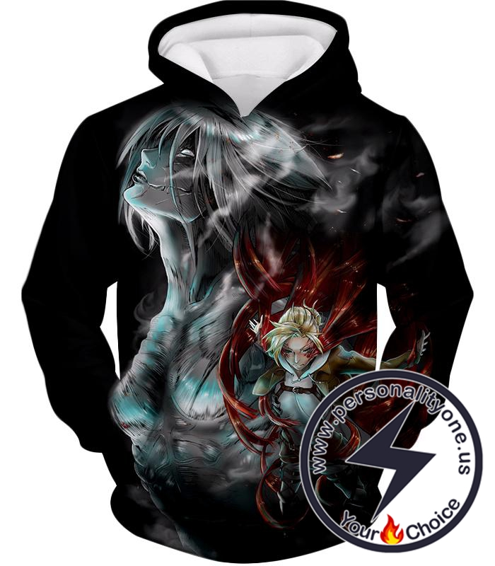 Attack on Titan Titan Soldier Annie Leonhardt Black Hoodie