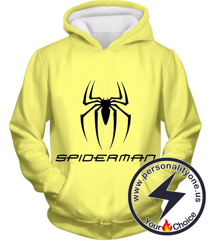 Awesome Spiderman Logo Promo Yellow Hoodie