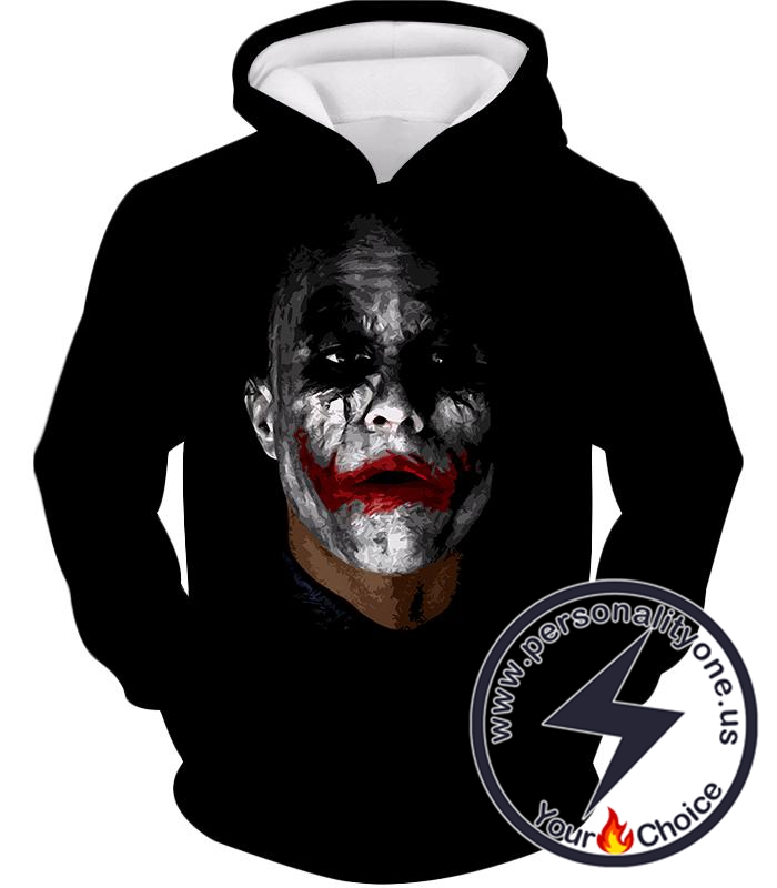 Batman The Dark Knight Super Villain Joker Awesome Black Hoodie
