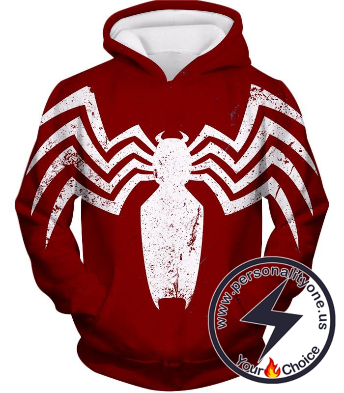 Cool Spiderman Logo Promo Red Hoodie