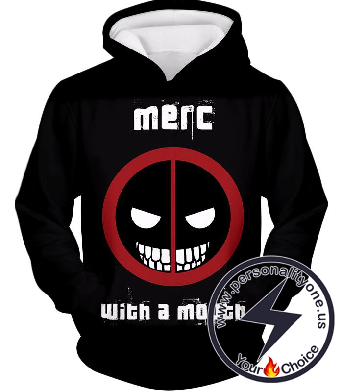 Deadpool Promo Merc With a Mouth Cool Black Hoodie