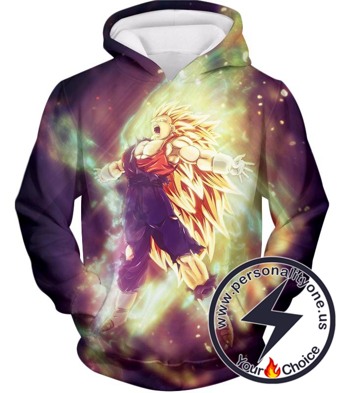 Dragon Ball Super Amazing Fusion Vegito Super Saiyan 3 Form Awesome Graphic Action Hoodie