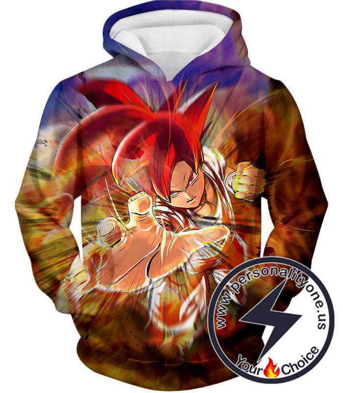 Dragon Ball Super Amazing Super Saiyan God Mode Goku Ultimate Action Hoodie