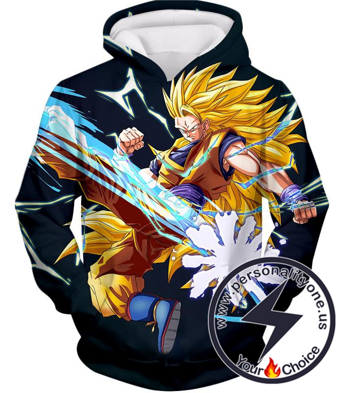 Dragon Ball Super Amazing Warrior Goku Super Saiyan 3 Cool Action Black Hoodie