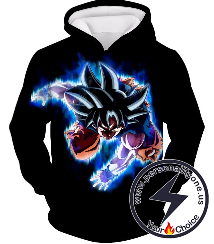 Dragon Ball Super Awesome Goku Ultra Instinct Action Promo Cool Black Hoodie