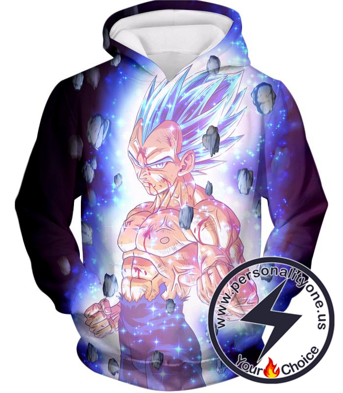 Dragon Ball Super Awesome Hero Prince Vegeta Super Saiyan Blue Cool Promo Hoodie