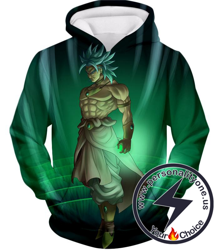 Dragon Ball Super Awesome Legendary Super Saiyan Broly Cool Graphic Anime Hoodie