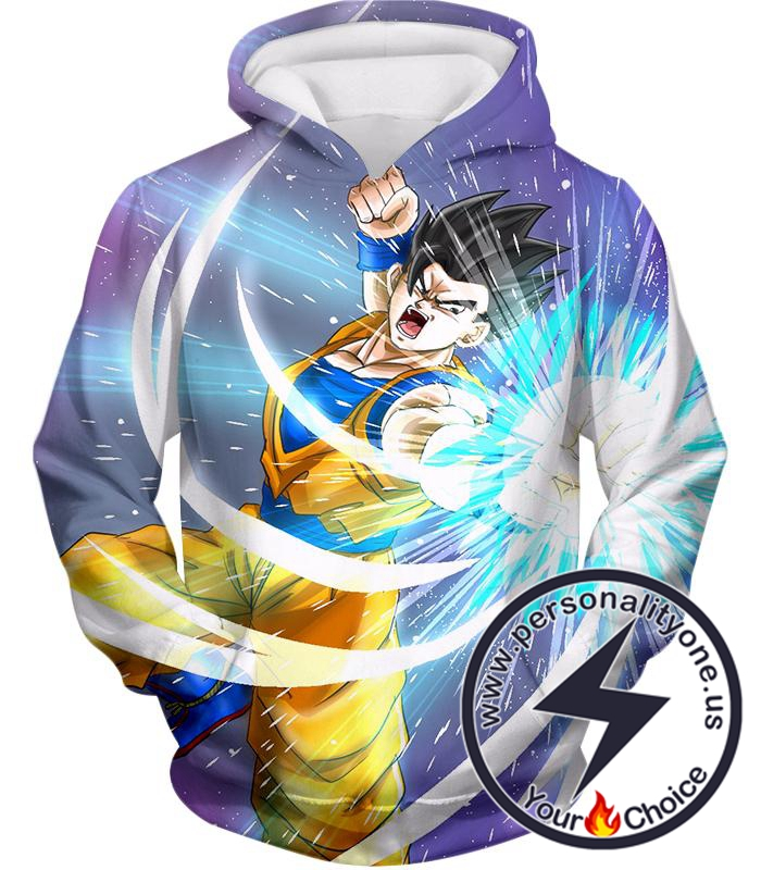 Dragon Ball Super Awesome Saiyan Hero Gohan Cool Anime Action Hoodie