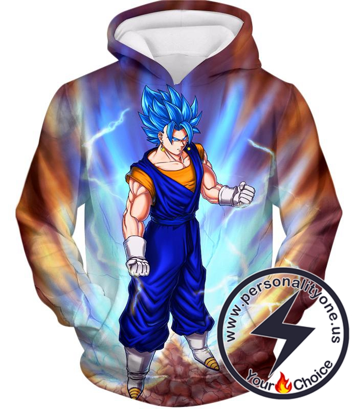 Dragon Ball Super Awesome Vegito Super Saiyan Blue Cool Action Anime Hoodie