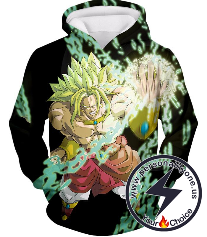 Dragon Ball Super Broly the Legendary Super Saiyan Awesome Action Black Hoodie