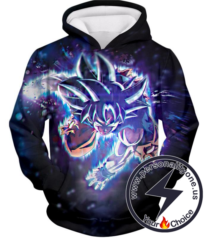 Dragon Ball Super Cool Action Goku Super Saiyan Blue Super Awesome Graphic Hoodie